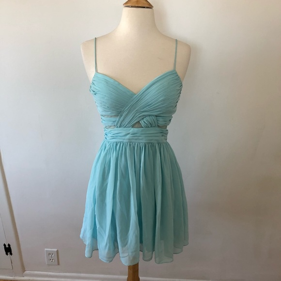 Blue Semi Formal Dresses with Straps